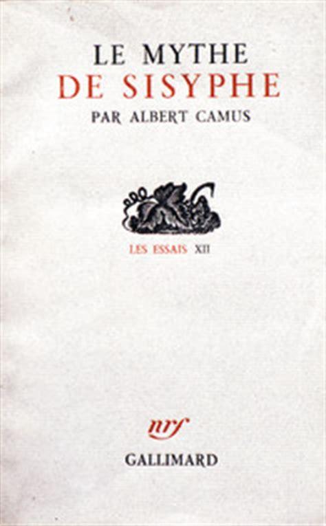 le mythe de sisyphe by le mythe de sisyphe les essais gallimard site gallimard