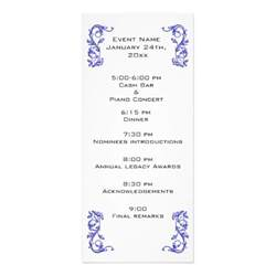 event program template customized event program template personalized rack card