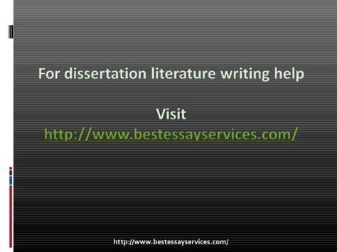 dissertation literature review help dissertation literature review