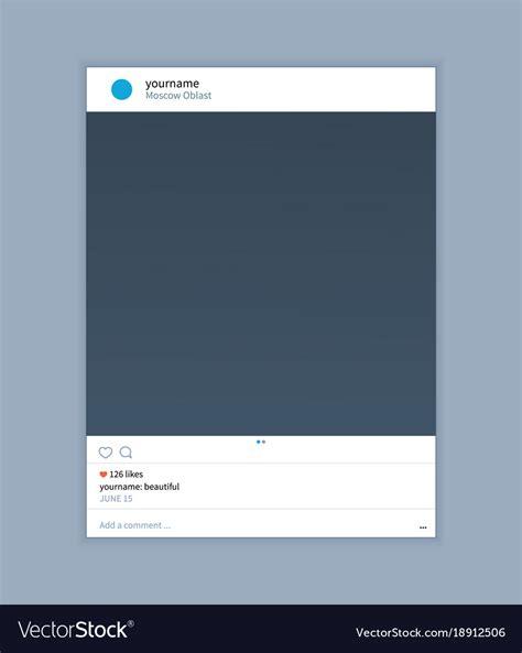 Frame Template For Instagram Applications Vector Image Instagram Frame Template