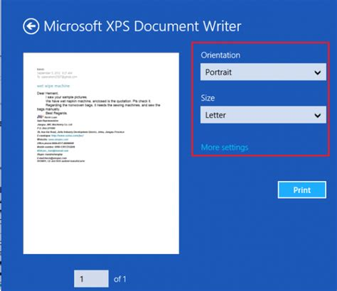 Microsoft Xps Document Writer