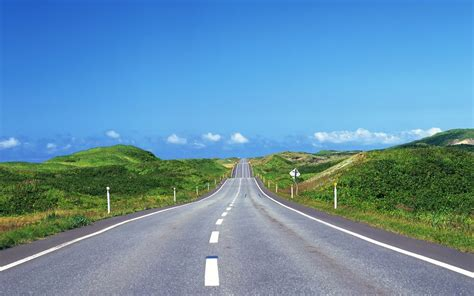 wallpaper green road hilly road grass green natur wallpapers hilly road