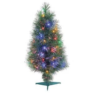 3 ft pre lit led fiber optic christmas tree mu target