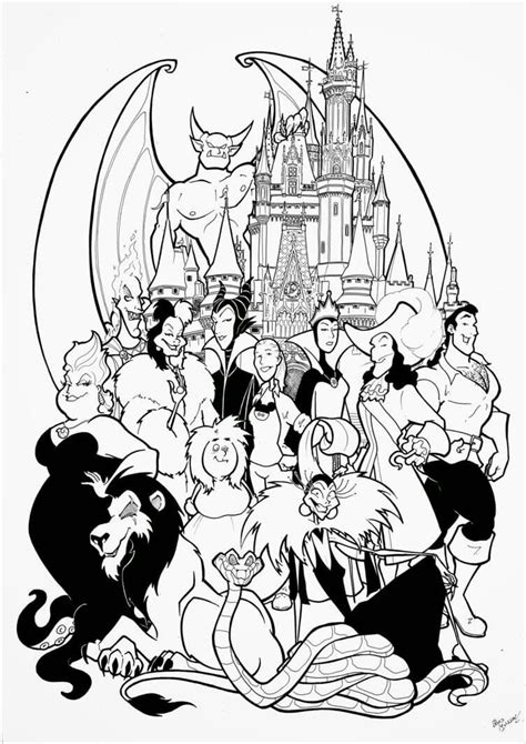 disney coloring pages widget free disney villains coloring pages jpg 752 215 1063 col