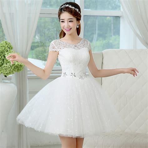 imagenes de vestidos de novia con olanes vestidos rom 225 nticos cortos encaje 5