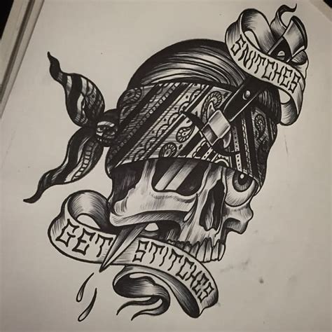 cholo tattoo designs gangster drawings of skulls www pixshark images