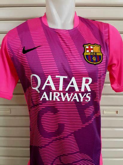 Jersey Grade Ori Pre Match Barcelona Yellow jersey pre match barcelona pink 2015 big match jersey
