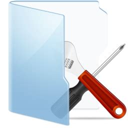 folder blue tools icon free download as png and ico
