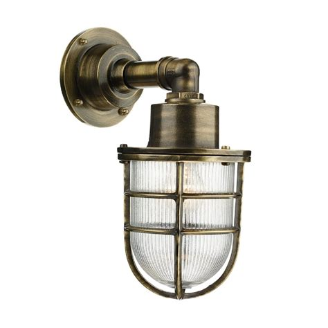 Outdoor Light Fittings Uk David Hunt Lighting Crewe Single Light Outdoor Wall Fitting Made From Solid Brass In Antique