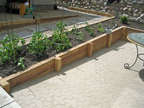 cedar wood retaining wall planter morgan k landscapes