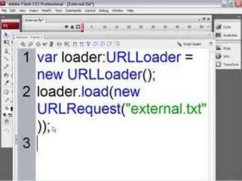 flash tutorial text tutorial loading external text in flash and flex youtube
