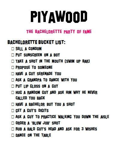 printable bachelorette to do list 7 best images of bachelorette bucket list printable