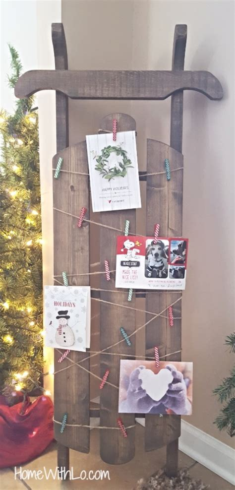 21 diy christmas card display holders a hundred affections