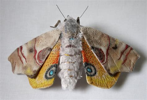 colourful handmade textile butterflies and moths by