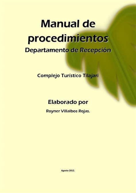 manual de procedimientos para adquisiciones manual de procedimientos del departamento de diagnostico