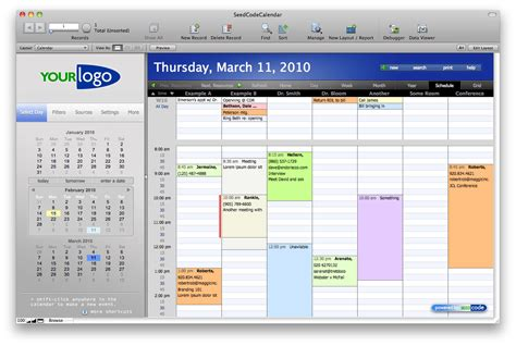 Filemaker Calendar Template by Seedcode Complete Ponsetup77 S