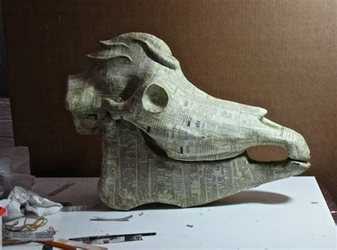 How To Make A Paper Mache Skull - artist michael bahl combines science and imagination to