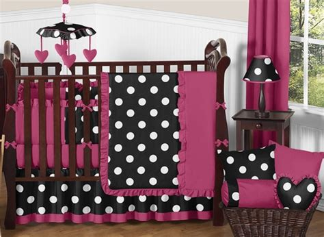 Black White And Pink Crib Bedding Pink Black And White Dot Baby Bedding By Sweet Jojo Designs 9 Pc Crib Set Only 189 99