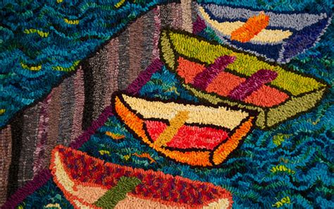 Rug Hooking Maine by Hooked Rugs At Savory Maine Fiber Folio