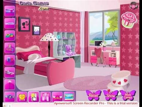 barbie bedroom decoration games decorate barbie bedroom room decorating game for girls