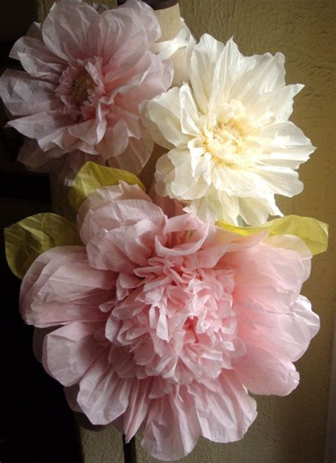 Large Tissue Paper Flowers - 6 large tissue paper flowers decorations for