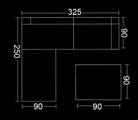 desire divani divano angolare desire 325x250 con pouf centrale in