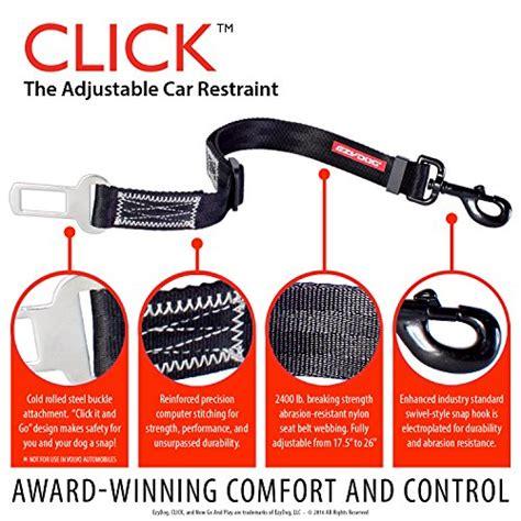 best seat belt ezydog click best seat belt car harness attachment for dogs adjustable