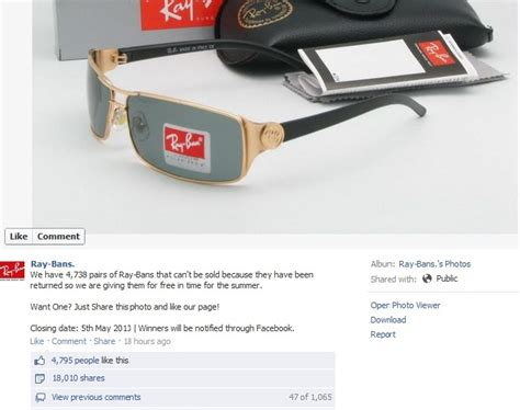 Facebook Giveaway Hoax - ray ban giveaway facebook hoax the filipino scribe