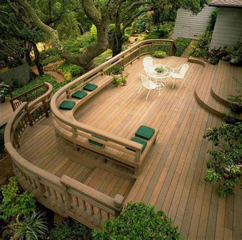 beautiful decks curved corners patio and deck ideas pinterest
