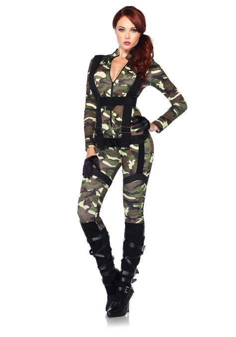 woman soldier costume pretty paratrooper costume