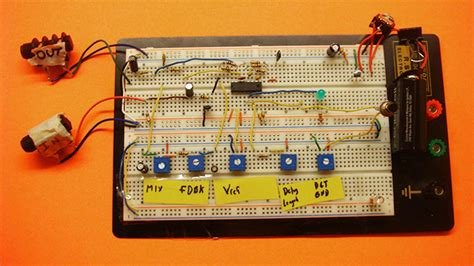 integrated circuit on breadboard diy audio circuits pt2399 digital echo delay integrated circuit breadboard experiment