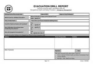 Emergency Drill Template by Best Photos Of Emergency Evacuation Drill Form For