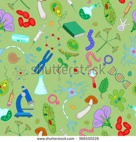 Mba With Biology Background by Seamless Pattern Simple Colored Icons On Stock Vector