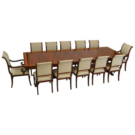 dining room set for 12 mahogany dining table and 12 chairs by kindel neoclassic