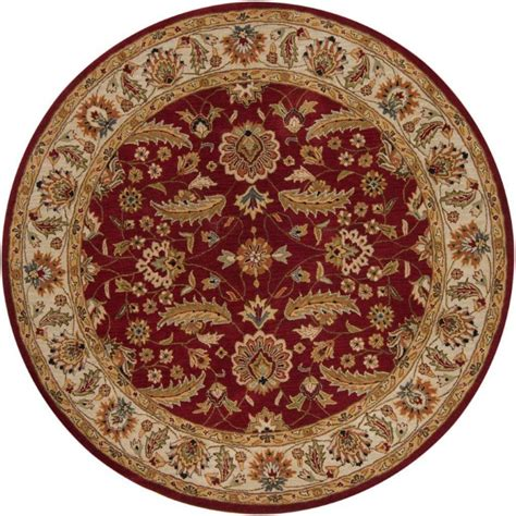 Artistic Weavers Brisbane Red Wool Round 6 Ft Area Rug Rugs Brisbane