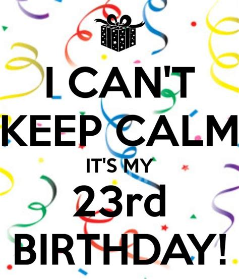23rd Birthday Quotes I Can T Keep Calm It S My 23rd Birthday Quotes