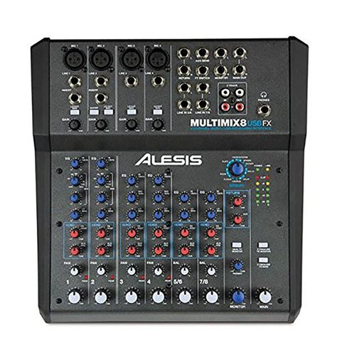 Mixer Audio Alesis alesis multimix 8 usb fx 8 channel mixer with effects