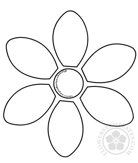 6 Petal Flower Template by 6 Petal Flower Template Flowers Templates