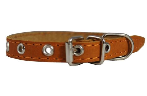 puppy collar size real leather collar 9 5 quot 13 quot neck size 1 2 quot wide chihuahua