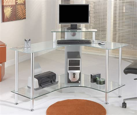 glass corner computer desks for home interior design tips smart 3 x black glass corner