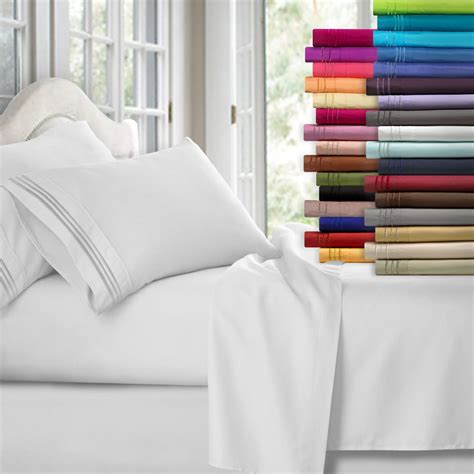 full size bed sheet sets clara clark premier 1800 collection 4pc bed sheet set