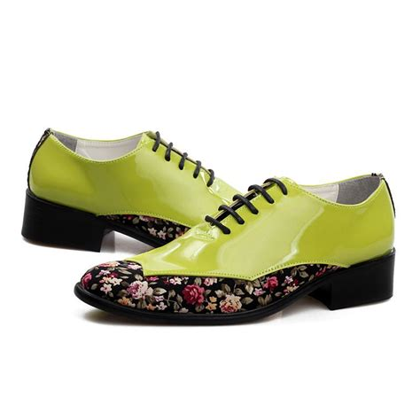 flower shoes cheap cheap japanned leather fashion mens wedding shoes