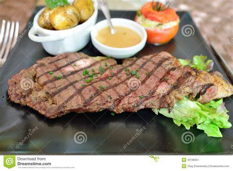 Hotplate Steak Potatoes entrecote steak stock image image of roasted menu steak 43198351