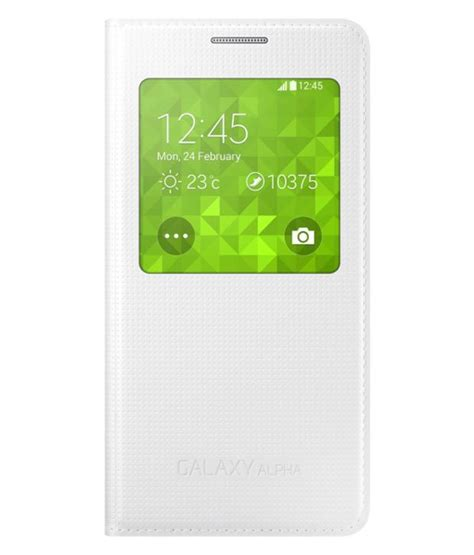 Flip Cover View Samsung V samsung s view flip cover for galaxy alpha white