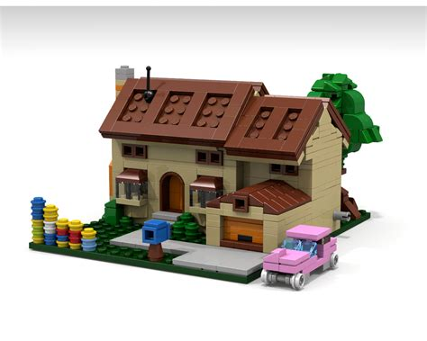 homer simpson dog house lego ideas the simpsons house micro scale modular building