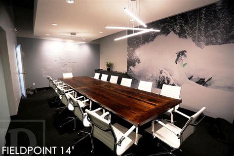 Timber Boardroom Table Oakville Reclaimed Wood Boardroom Table