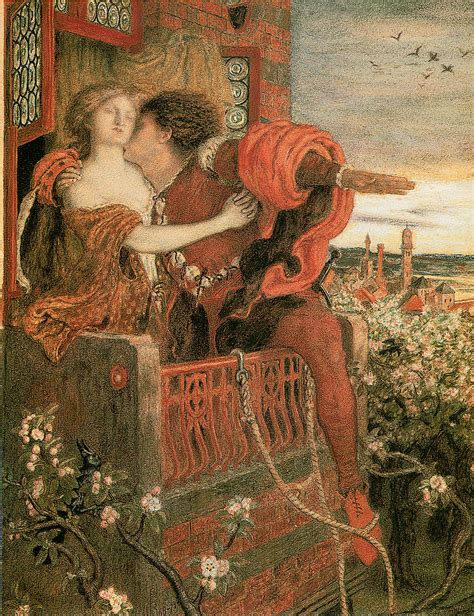 Romeo And Juliet Painting by Ford Madox Brown