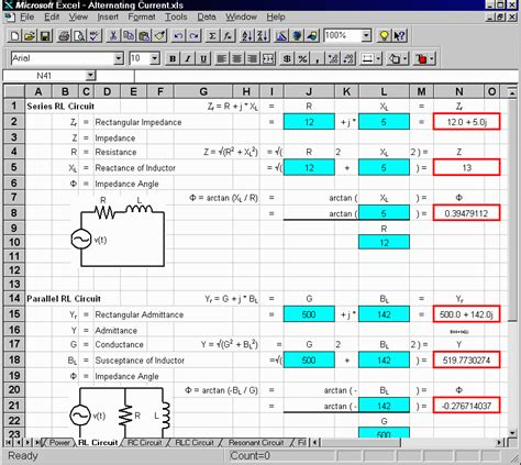Electrical Engineering Excel Spreadsheets 28 electrical engineering excel spreadsheets power