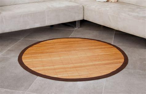 wohnzimmer teppich rund bambusteppich rund runder bambus matte teppich vorleger