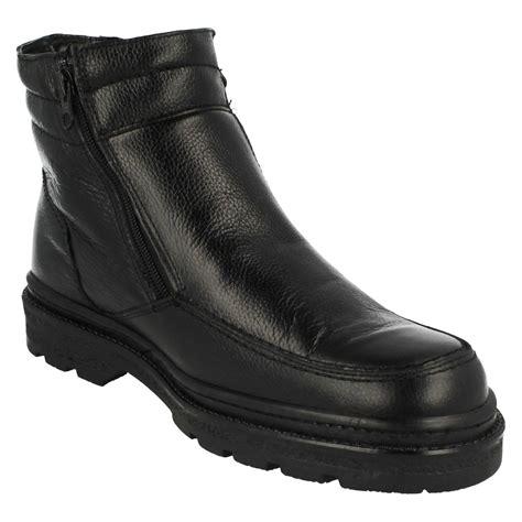 zip up mens boots mens luca mancini dual zip up lm2707 boots ebay